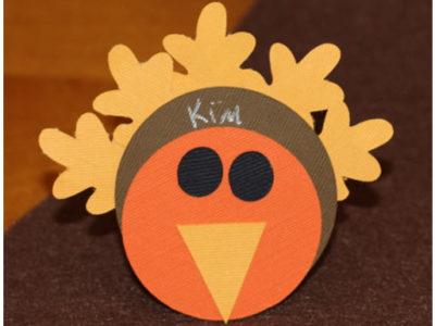 Diy thanksgiving turkey placecard