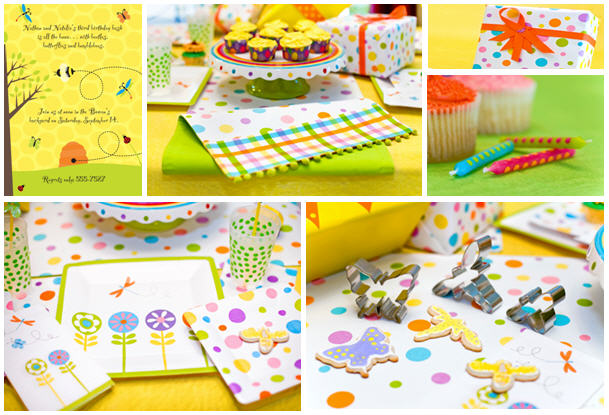 Bugs and butterflies party theme