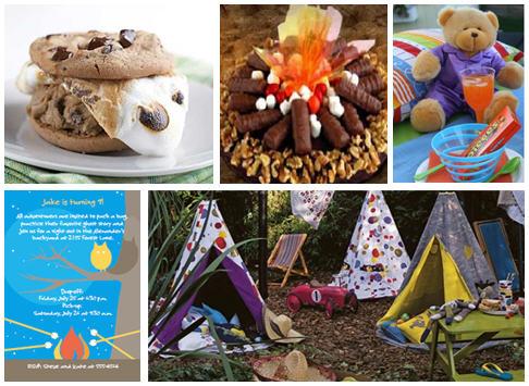 Slumber party campout