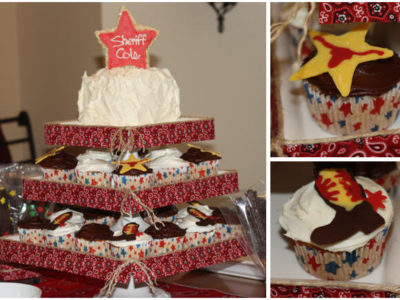 Cowboy birthday party cake