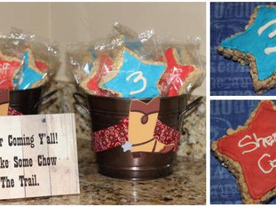 Sheriff badge rice crispy treats