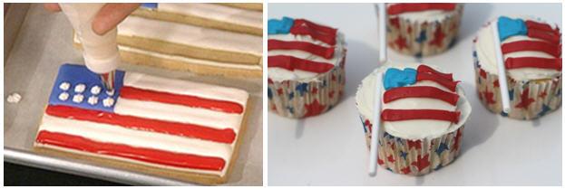 American flag cookie