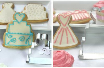 Bridal cake cookie cutter
