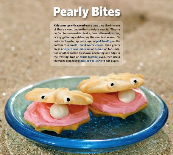 Clam pearl cookies