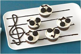 Musical note cupcakes