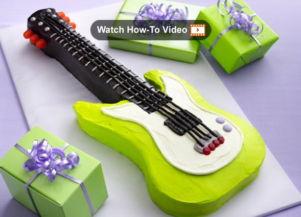 Guitar Party Cake