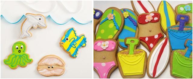 Deep sea beach cookies