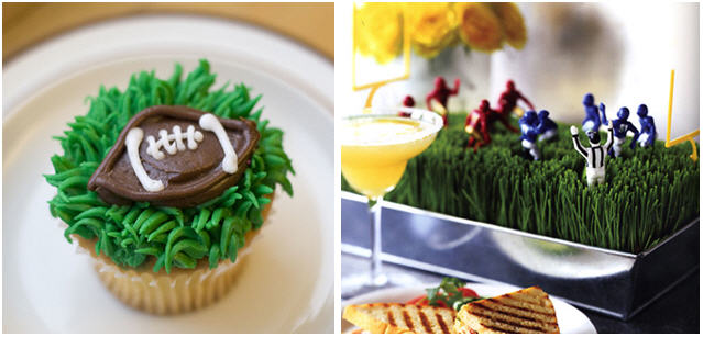Football night party inspiration cupcakes