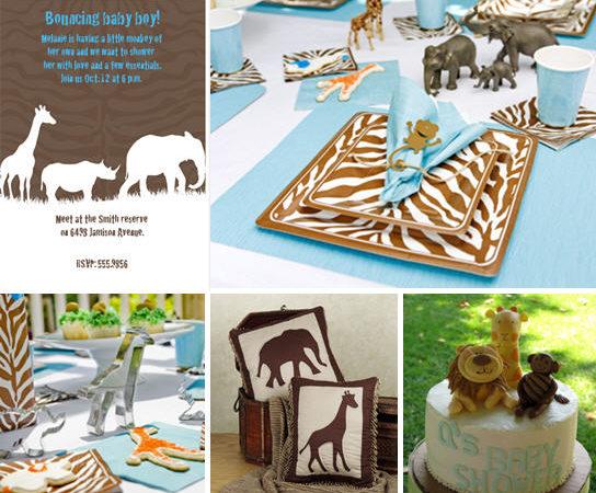 Safari animal inspired baby shower