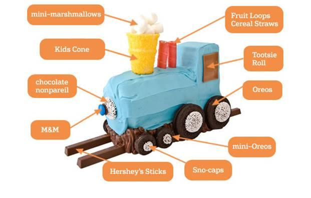 Train steam engine cake1