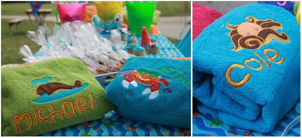 Beach towel favors
