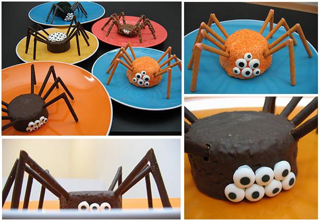 Fun spider cakes