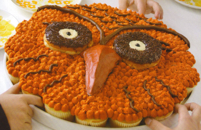 Owl cupcake pull a part