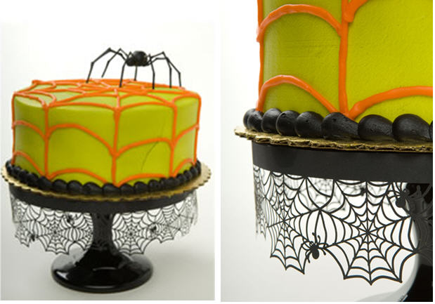 Spiderweb Cake Plate Decoration   Kim Byers