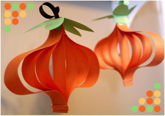 Diy paper pumpkin craft