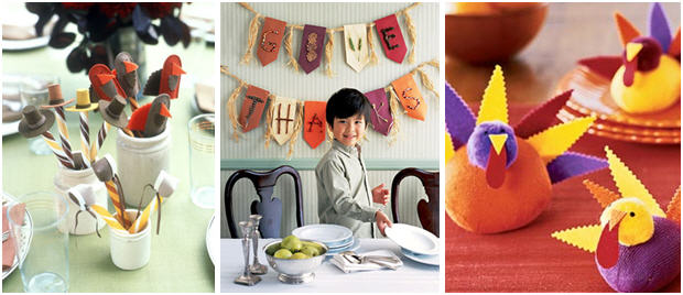 kid-table-thanksgiving-crafts | Kim Byers