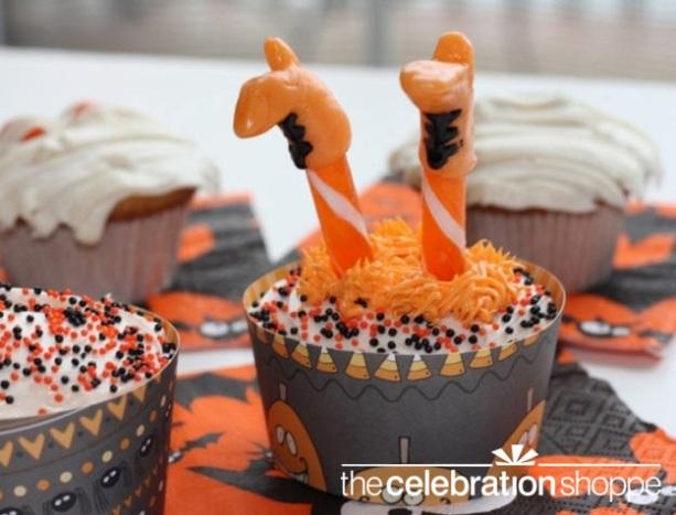 The celebration shoppe crashing witch cupcake