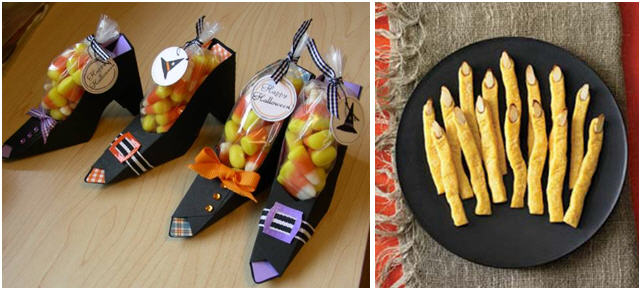 Witch shoe favors