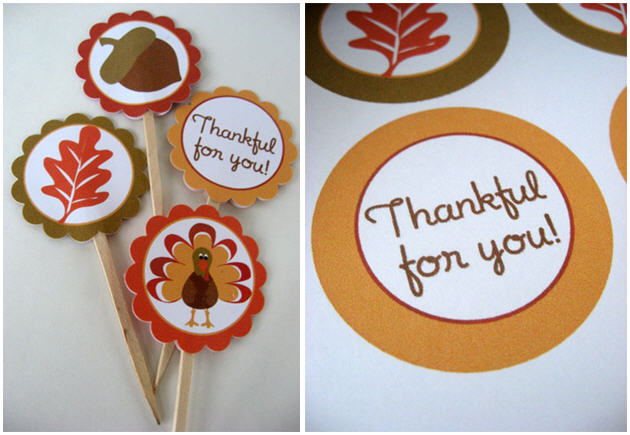 Free thanksgiving pick printable template