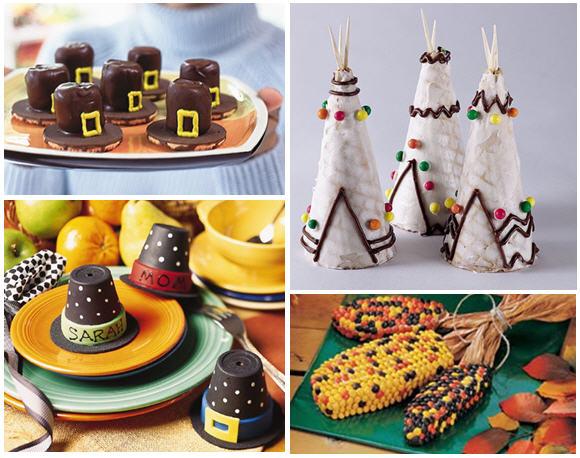 Pilgrim hats indian corn treats