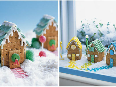 Diy no bake gingerbread houses