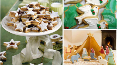 Nativity and dove cookie cutters