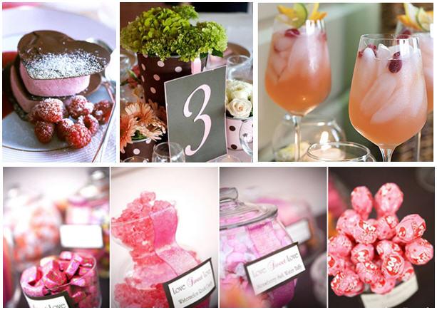 Pink brown baby shower ideas