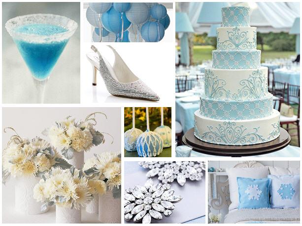 Something blue bridal shower inspiration board