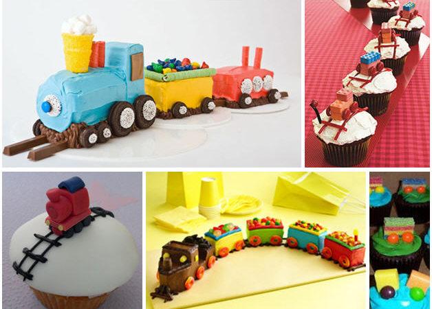 Train birthday party cake ideas