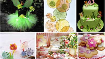 Woodland fairy party inspiration board