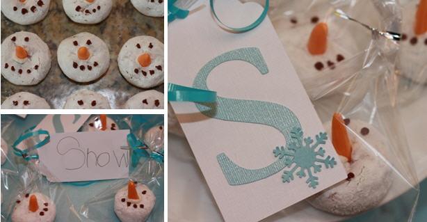 Letter s snowman snack
