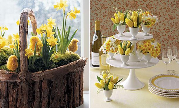 Daffodil centerpiece ideas