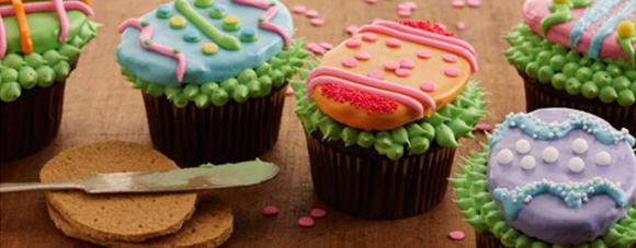 Easter egg cupcake idea