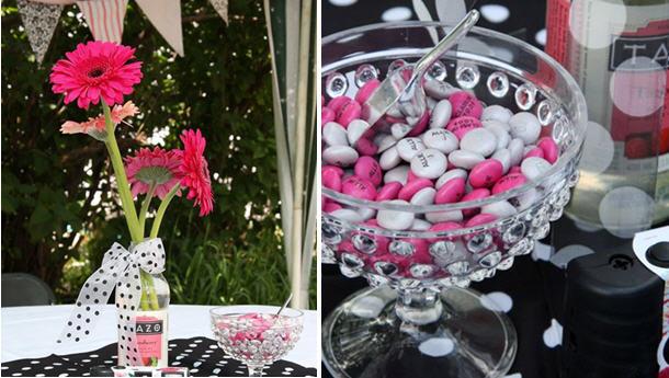 Pink black graduation party ideas