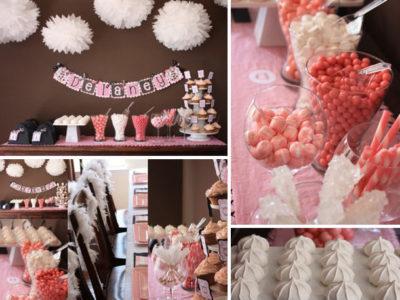 Pink black parisian candy party flc