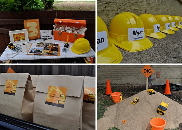 Construction birthday party a