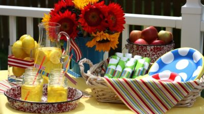 The celebration shoppe bbq in mom magazine self service table