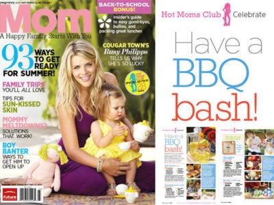 The celebration shoppe in mom magazine backyard bbq cover