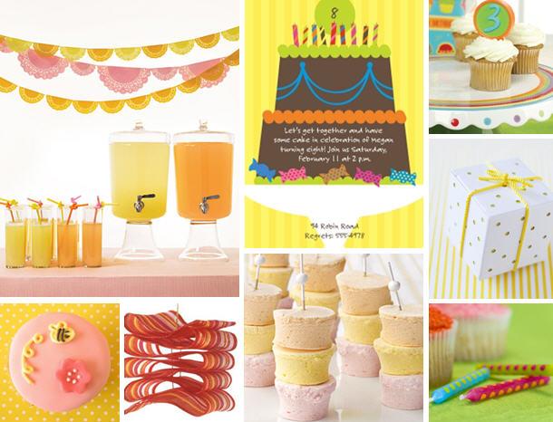 The celebration shoppe pink yellow orange inspired party
