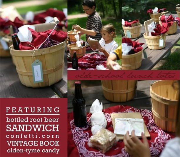 Cheeky kitchens old fashioned back to school lunch totes