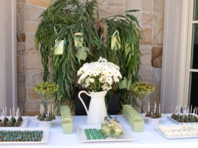 Green and white bridal shower a1
