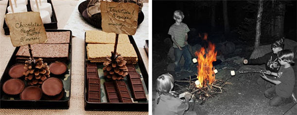 campout-birthday-party-smore-display-ideas
