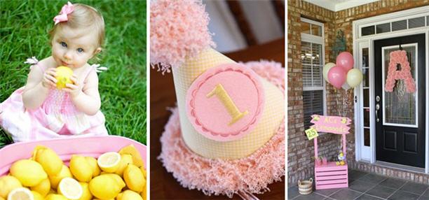 Lemonade first birthday party idea