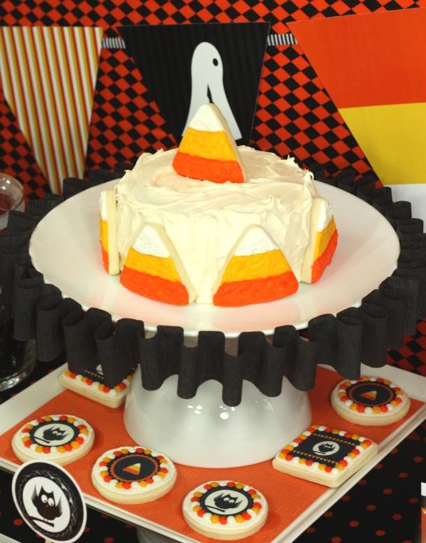 Candy Corn Collection DIY Cake Plate Ruffle | Kim Byers