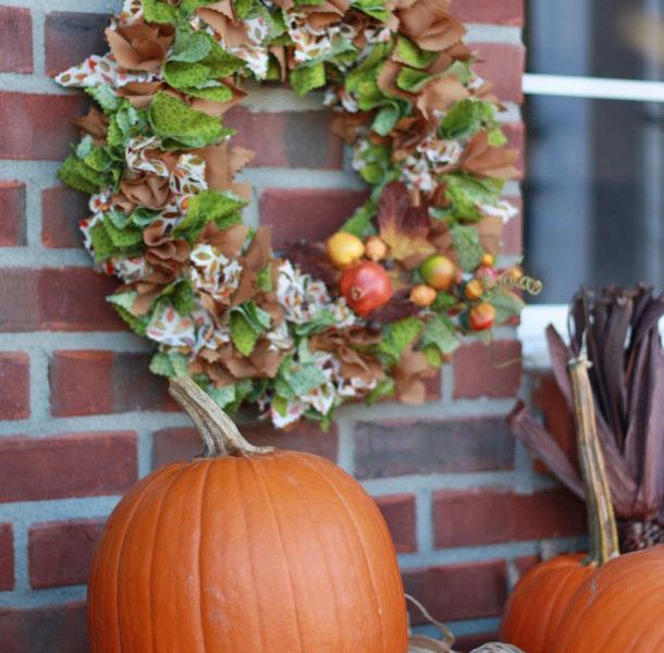 Diy fabric fall wreath craft
