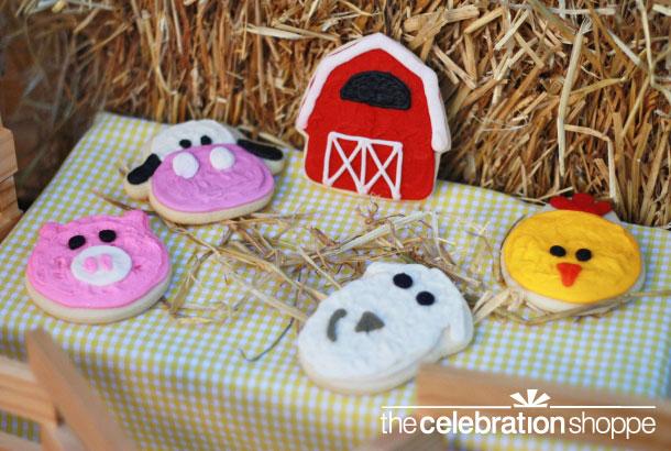 The celebration shoppe farm collection animal cutout cookies