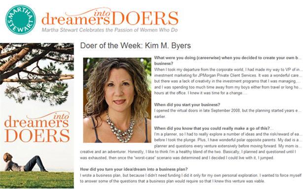 Kim byers the celebration shoppe martha stewart dreamer into doer