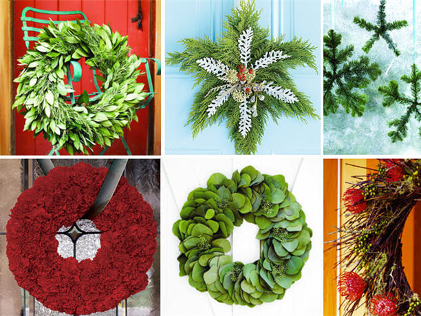 Natural fresh diy christmas wreath ideas