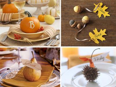 Natural thanksgiving placecard ideas