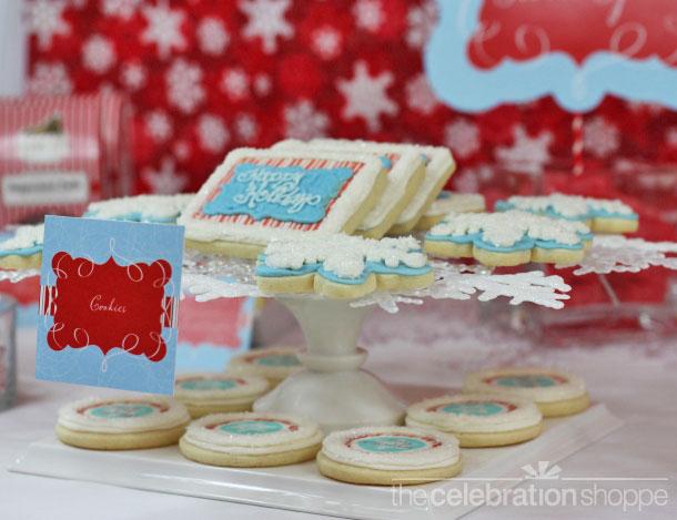 The celebration shoppe mod candy cane cookie plate1